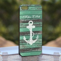 Refuse To Sink Nautical, Print on Hard Cover iPhone 5 Black Case