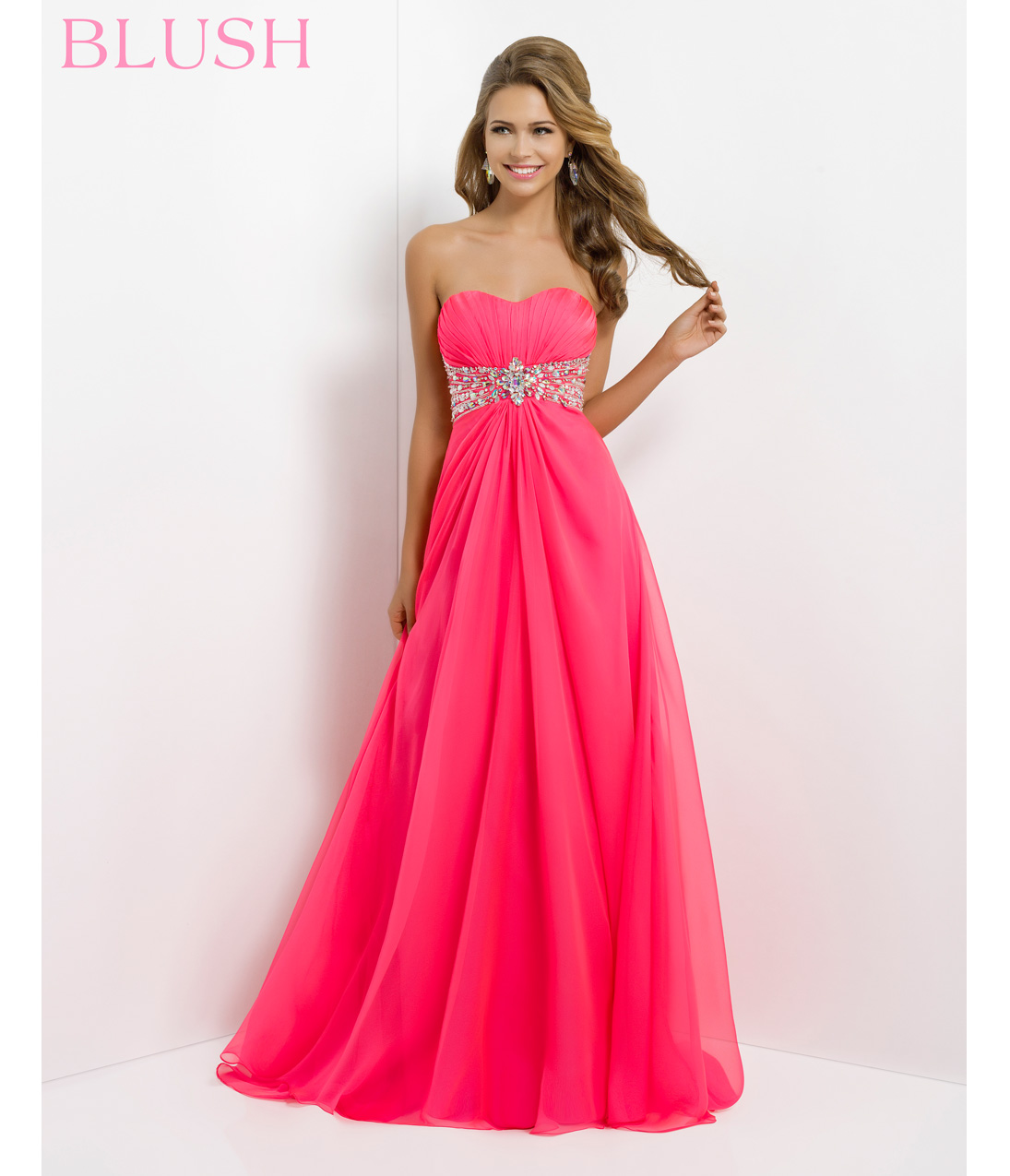 Blush 2014 prom dresses barbie pink from unique vintage for Pink homecoming dresses