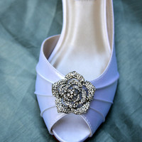 Rose Wedding Shoes Low Heel - Crystal Heels - Many colors