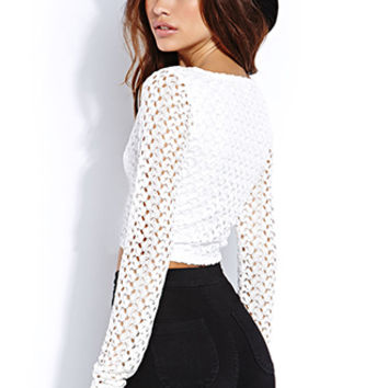 FOREVER 21 Dainty Crop Top