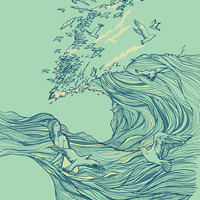Ocean Breath Art Print by Huebucket