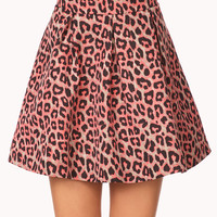 Spot-On Leopard Pleated Skirt