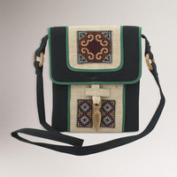 Novica Colors of the Night Hemp Shoulder Bag | World Market