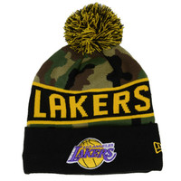 Los Angeles Lakers NBA Hardwood Classics Camo Pom Knit