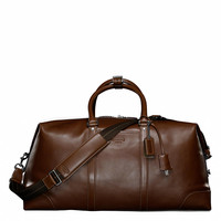 TRANSATLANTIC TRAVEL CARRYON IN LEATHER