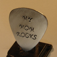 Guitar Pick for a Rocking Mom Handmade from Aluminum