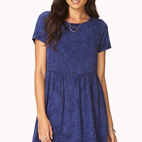 Mineral Wash Babydoll Dress