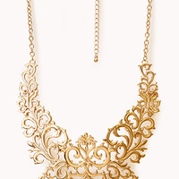 Regal Damask Bib Necklace