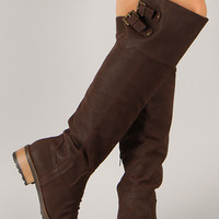 Relax-01XX Buckle Round Toe Riding Boot