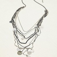 Free People Womens Multi Charm Rosary -