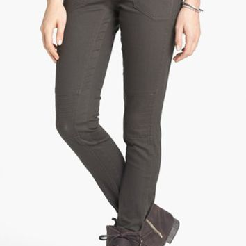INSTANT VINTAGE Moto Skinny Jeans (Army Green) (Juniors) (Online Only) | Nordstrom