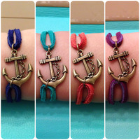 NEW COLOURS - Anchor Bracelet