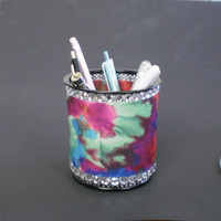 MULTI COLOR & BLING Pen/Pencil Cup Holder
