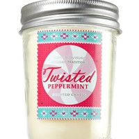 Twisted Peppermint 6 oz. Mason Jar Candle   - Slatkin & Co. - Bath & Body Works