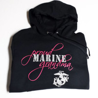 USMC Marine Corps Proud Grandma/Mom/Wife/Girlfriend/Sister/Aunt Women's Hoodie