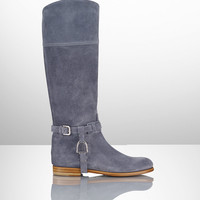 Sage Calf Suede Riding Boot