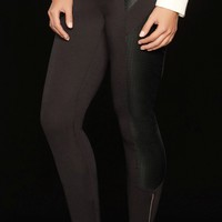 Kardashian Pu Panel Zip Leggings