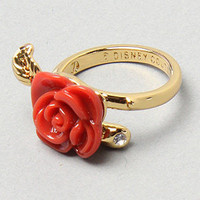 Karmaloop.com - Global Concrete Culture - The Red Resin Curved Rose Ring by Disney Couture Jewelry