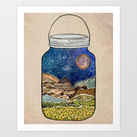 Star Jar Art Print by Jenndalyn
