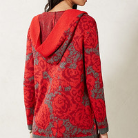Maraschino Floral Sweater Coat