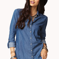 Shadowed Chambray Shirt
