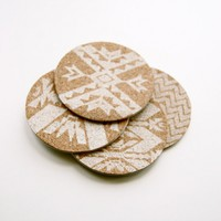 Mojave: Letterpress Coasters - Set of 4 | Little Paper Planes