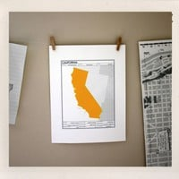 California State of Mind Print | Little Paper Planes