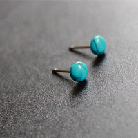 Turquoise stud Earrings, Small Studs, Surgical Steel stud, tiny studs, post earrings, tiny turquoise studs