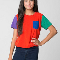 American Apparel - Youth Fine Jersey Pocket Short Sleeve T-Shirt