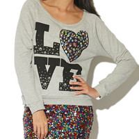 Love Jeweled Sweatshirt