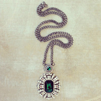 Pree Brulee - Emerald Art Deco Necklace