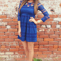 Mona Lisa Smile Dress: Navy Blue