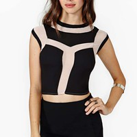 Night Heat Mesh Crop Top