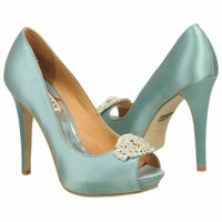 Women's Badgley Mischka  Goodie Nile Blue Satin Shoes.com