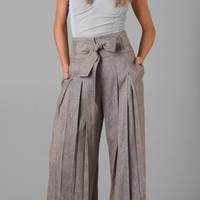 Cross Dye Wide Leg Pants