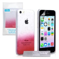iPhone 5C Case Red / Clear Raindrop Hard Cover: Amazon.ca: Electronics