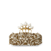 Alexander McQueen - Bead and Passementerie Leather Clutch