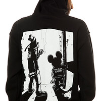Another Enemy Outsiders ZipUp Hoodie in Black