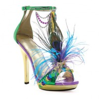 Peacock Feathered Sandals