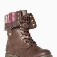 DailyLook: Tribal Lined Combat Boots