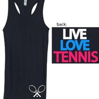 Junior's Live Love Tennis Racerback Tank