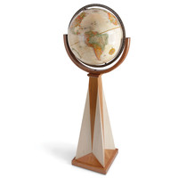 The Frank Lloyd Wright Obelisk Floor Globe - Hammacher Schlemmer