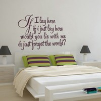 If I lay here lyrics sticker | Moon Wall Stickers