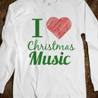 I love Christmas music long sleeve shirt