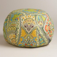 Venice Paisley Outdoor Pouf | World Market