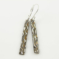 Zebra Pure Silver Long Earrings