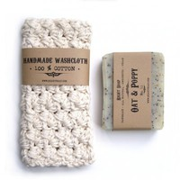 Soap and washcloth-Pick your natural soap