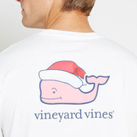 Men's T-Shirts: Santa Hat Graphic Pocket T-Shirt for Men - Vineyard Vines