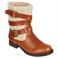 Carly Cable Knit Engineer Boot