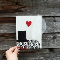 Supermarket: OWL wedding double card from Oh What Lovely